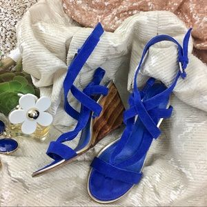 Seven 7 for All Mankind Blue Suede Sandals